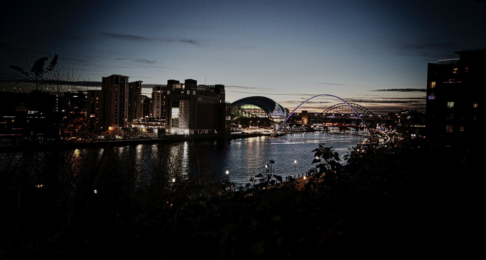 Newcastle cityscape by night