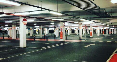 Underground indoor car park