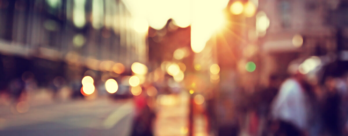 Blurred shot of a highstreet